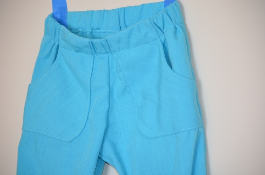 Front Pocket Detail Turquoise Pants