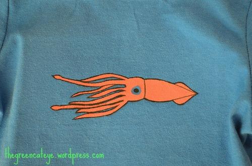 thegreencateye.com Squid Shirt Detail
