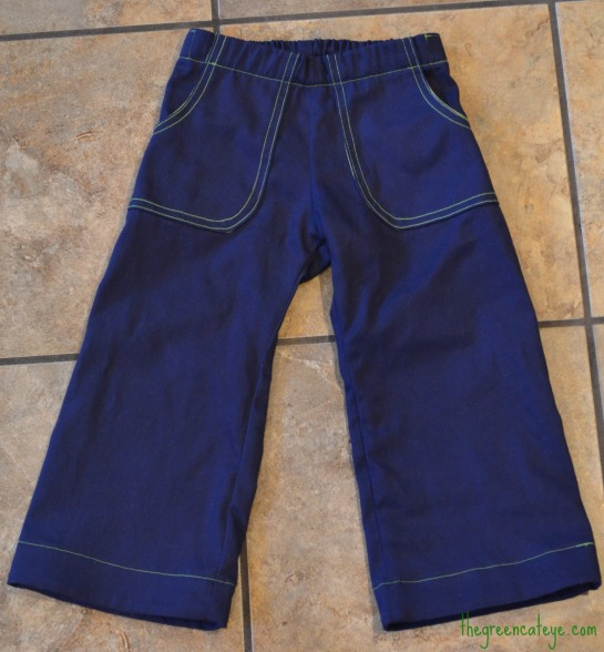 Navy Grn Kid Pants WM